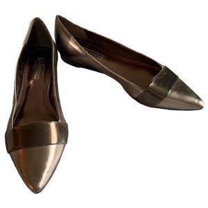 BCBGeneration metallic pointed toe flats
